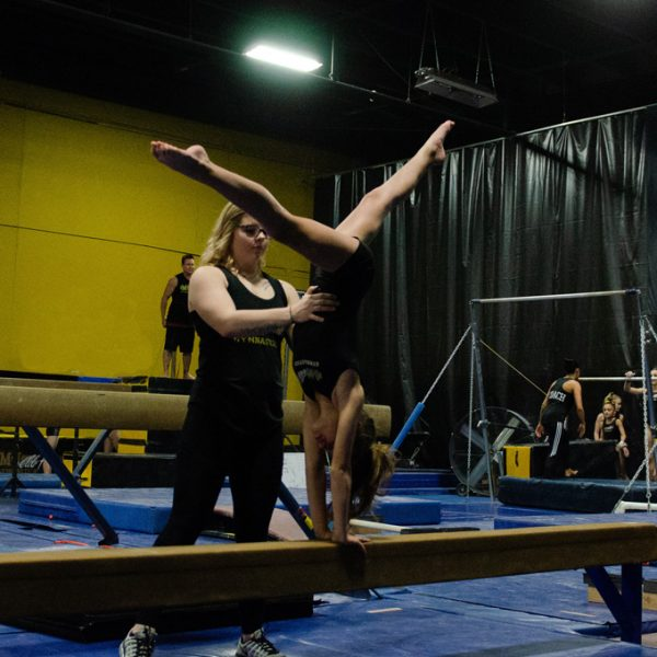 Gymnastics Team training