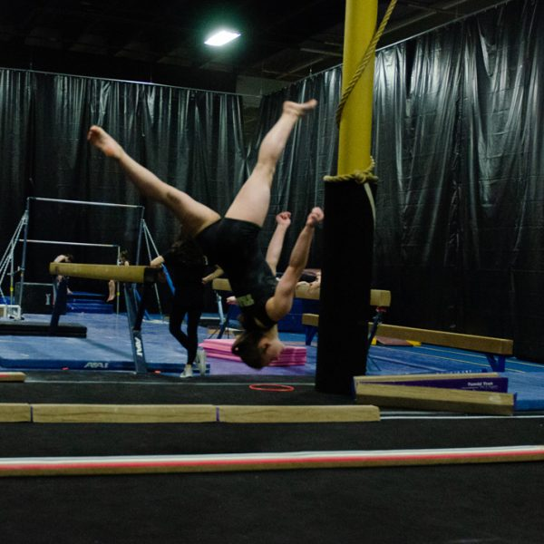 Mt Juliet Elite Gymnastics balance beam flip