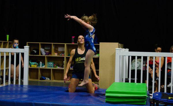 Gymnastics landing