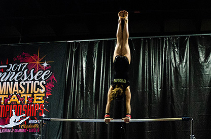 Hand Stand On Bars
