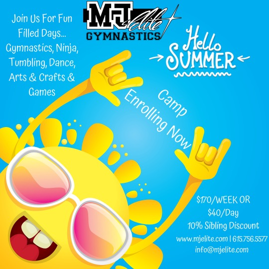Mj Elite Gymnastics Summer Camp